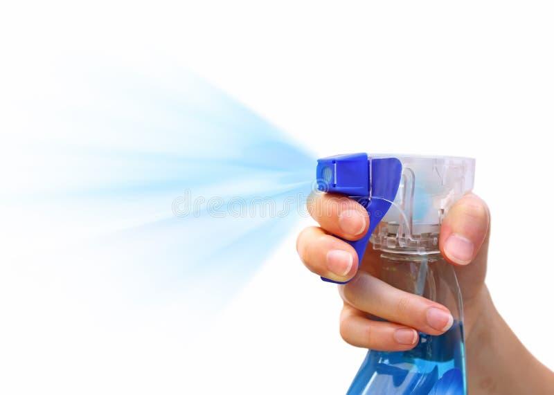 flaskrengöringsmedelspray royaltyfri foto