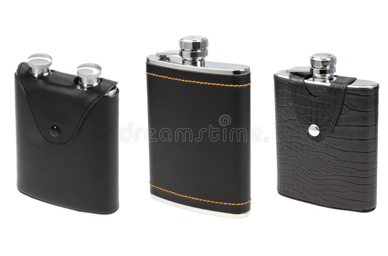Download Flasks for alcohol stock photo. Image of container, metal - 23561904