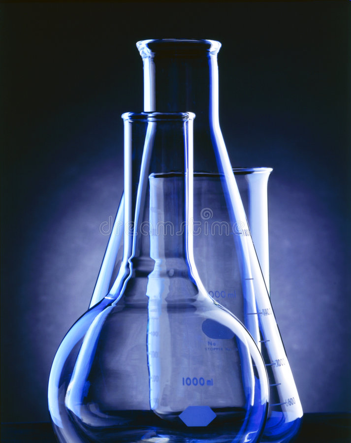 Flasks and beakers royalty free stock photography