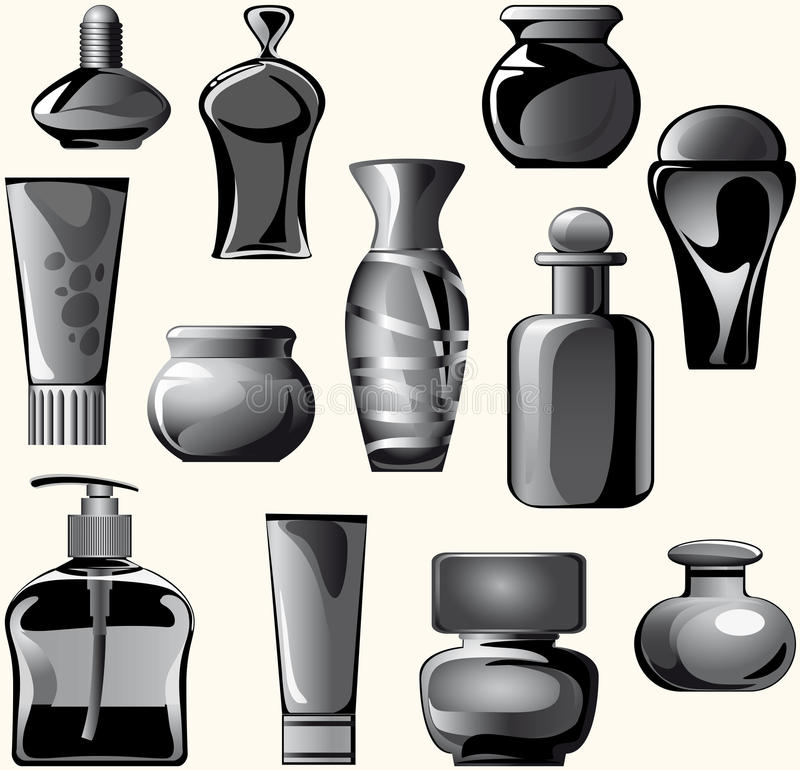 Flasks, Jars, Containers, Tubes Of Body Care Produ Stock Image