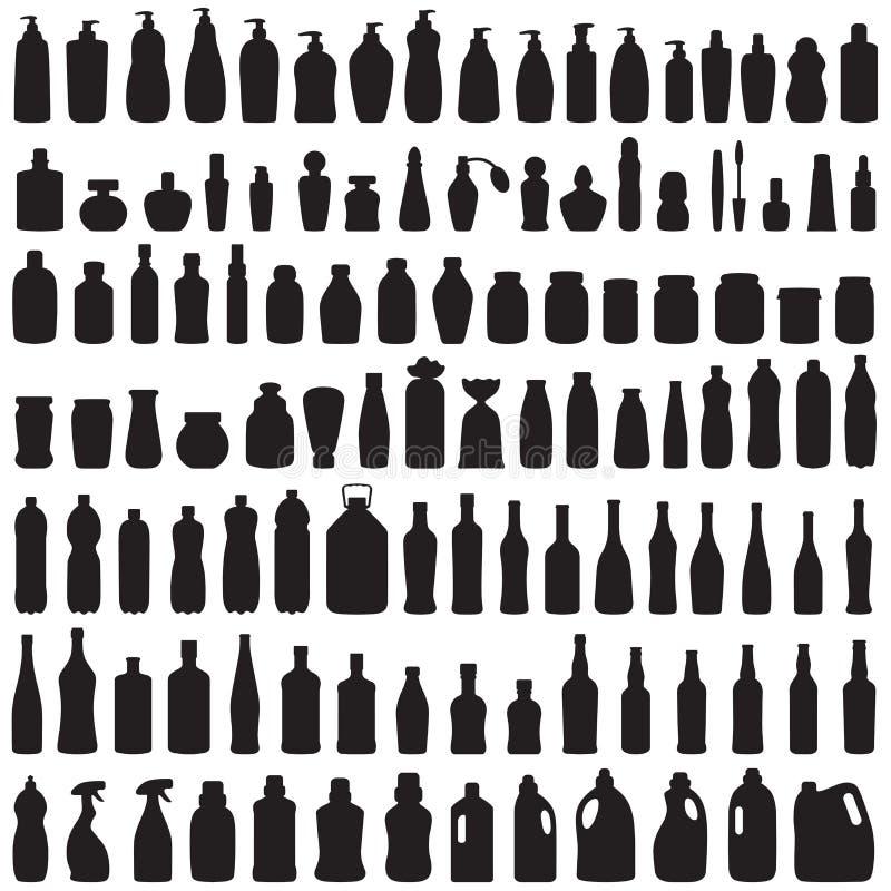 Flasksymbol royaltyfri illustrationer