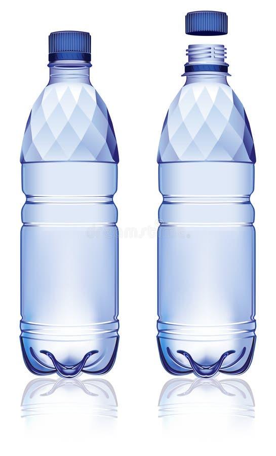 flaskvatten vektor illustrationer