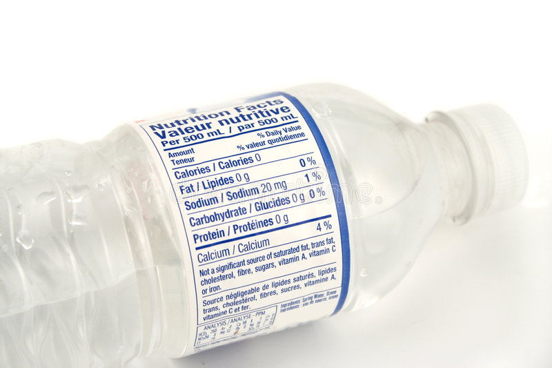 flaskvatten arkivfoton