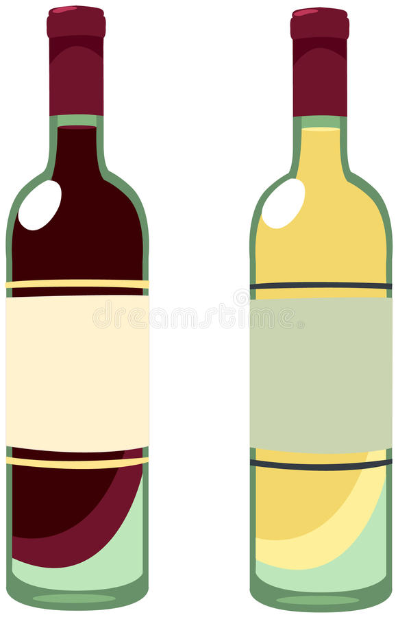flaskwine vektor illustrationer