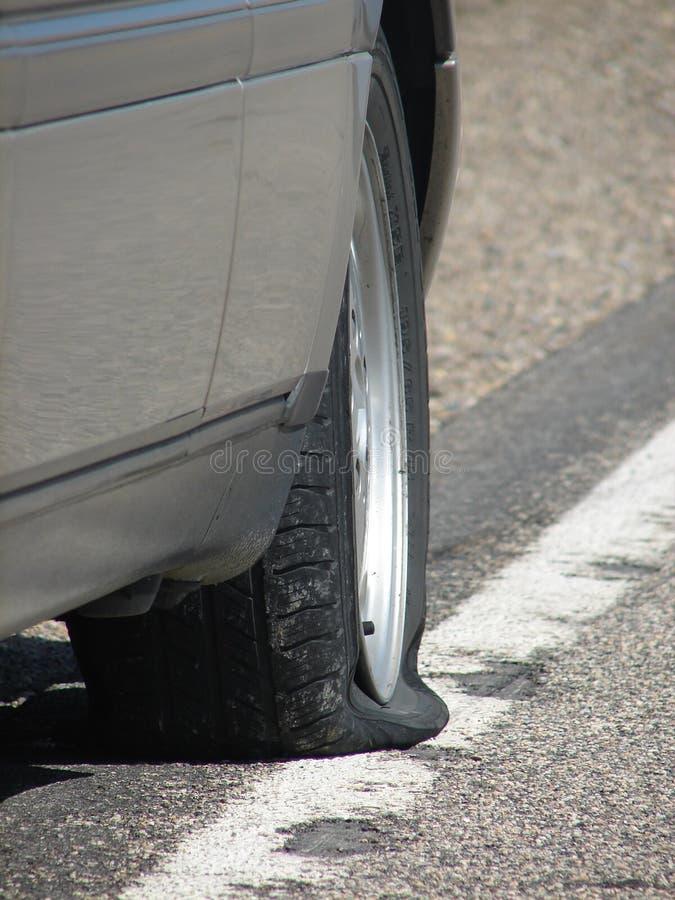 Download Flat stock photo. Image of road, tire, broke, wheel, down - 1415742