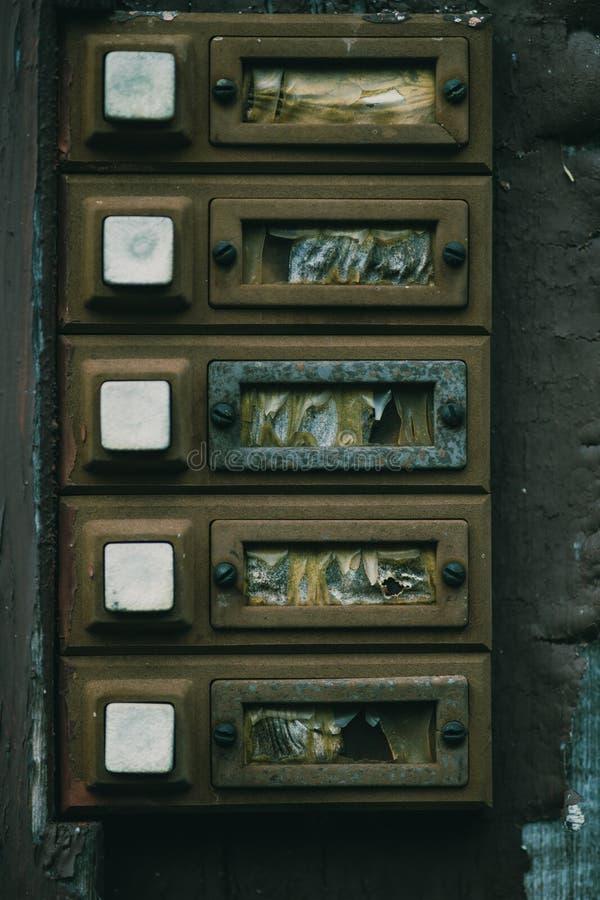 Download Flat Or Apartment Door Bells Stock Image - Image of closeup buzzers 49977445 & Flat Or Apartment Door Bells Stock Image - Image of closeup buzzers ...