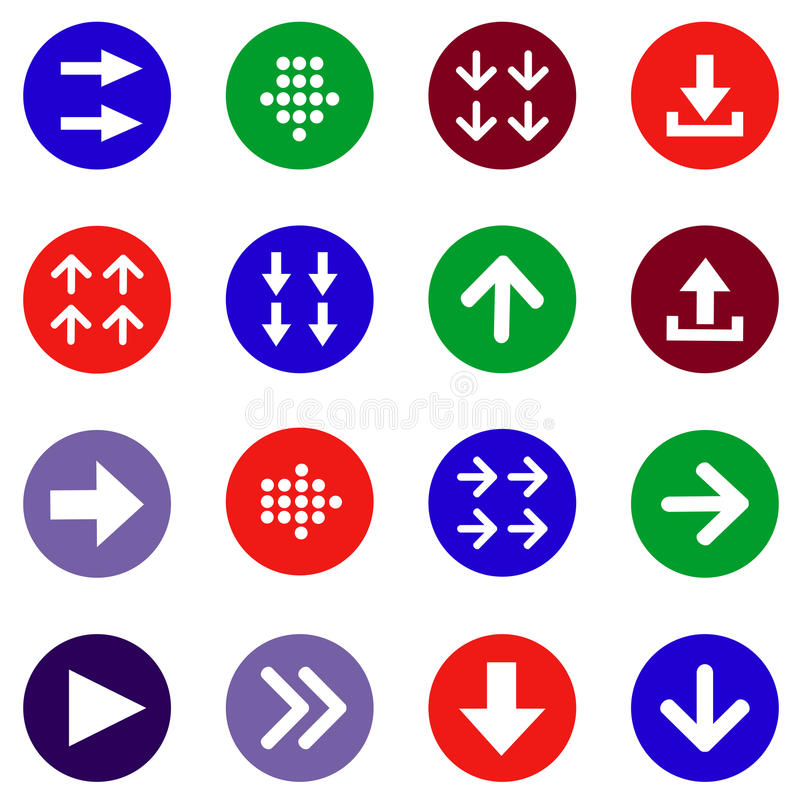 Download Flat arrow icons set stock vector. Image of interface - 39814147
