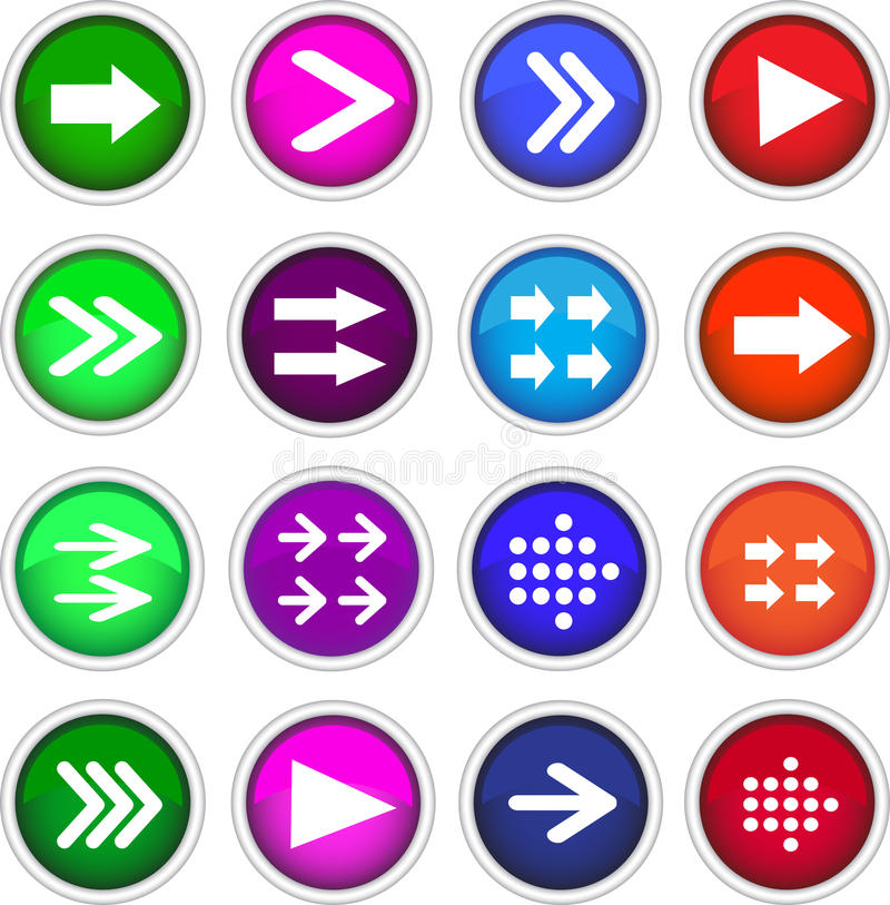 Flat arrow icons. Stock picture-Flat arrow icons vector illustration