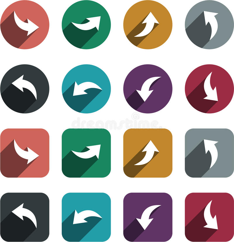 Flat arrow icons. royalty free illustration