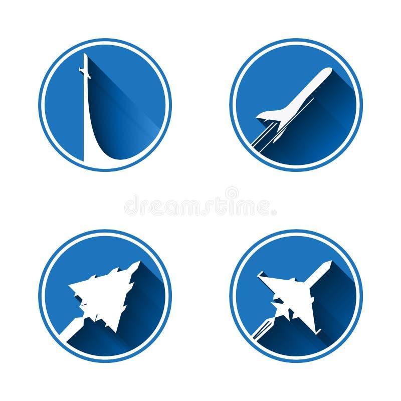 Flat aviation royalty free illustration