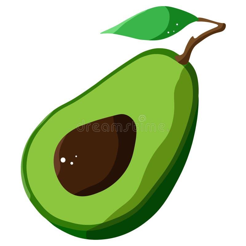 Flat avocado on a white background. Vector. royalty free stock photos