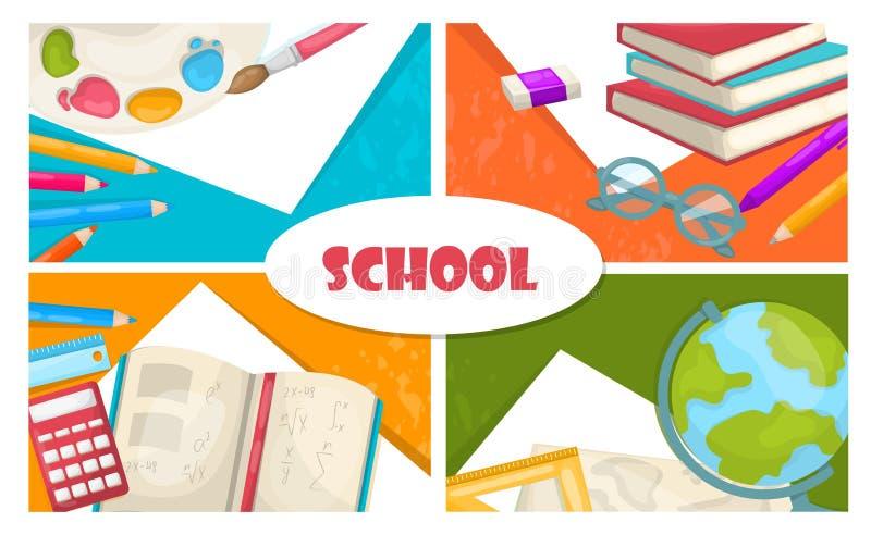 Flat Back To School Concept stock illustration