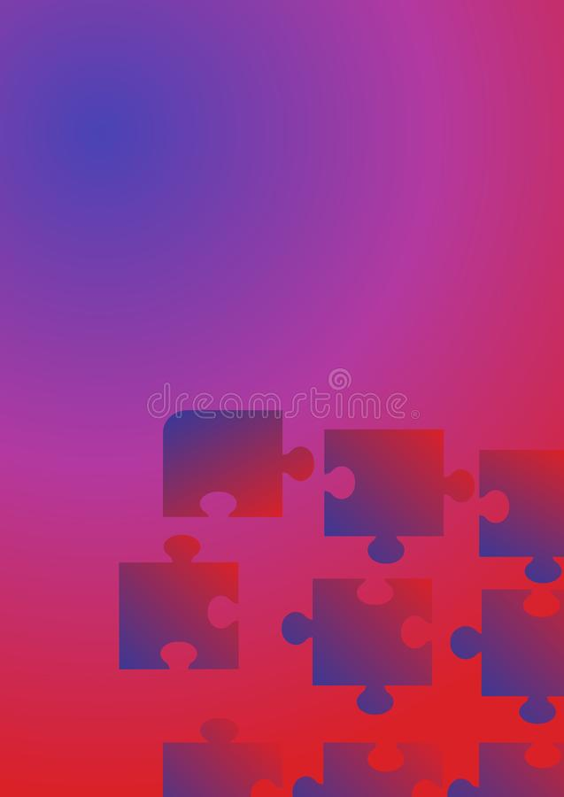 Flat background puzzle for concept design. Technology background. royalty free illustration
