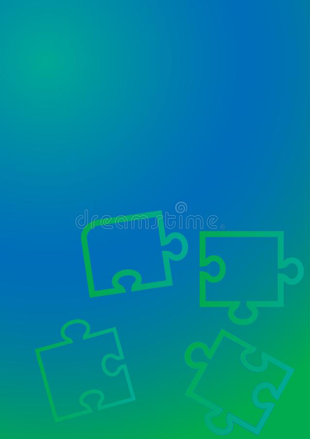Flat background puzzle for concept design. Technology background. stock illustration