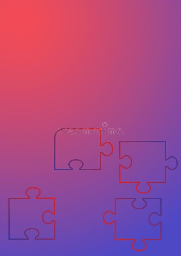 Flat background puzzle for concept design. Technology background. vector illustration
