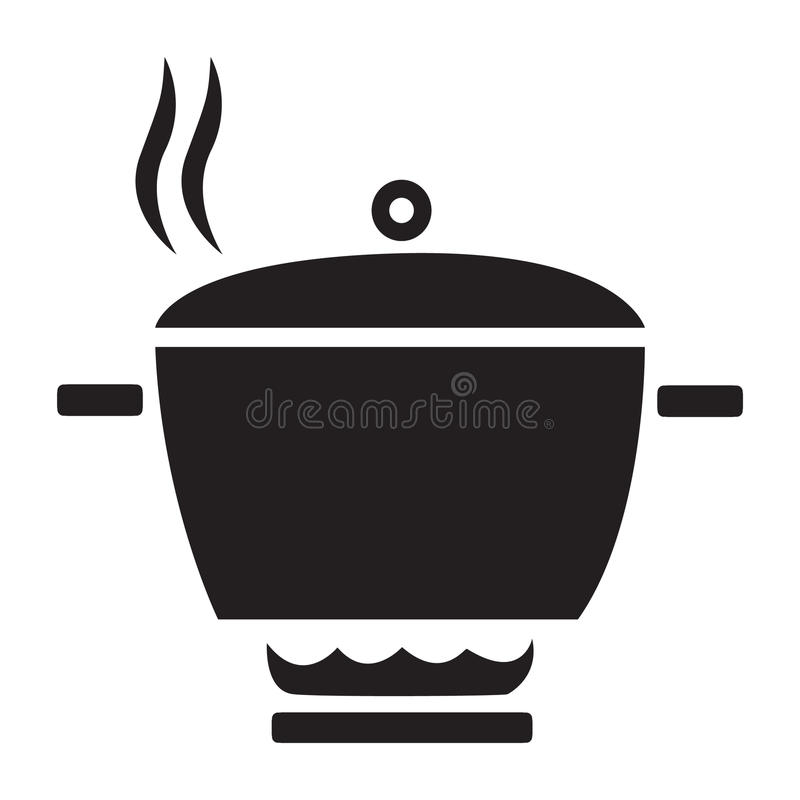 Flat black cook icon. Simple flat black cook icon vector stock illustration