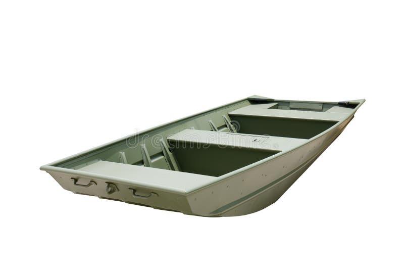 Flat Bottom Aluminum John Jon Boat Painted Green Stock Image - Image: 41587563