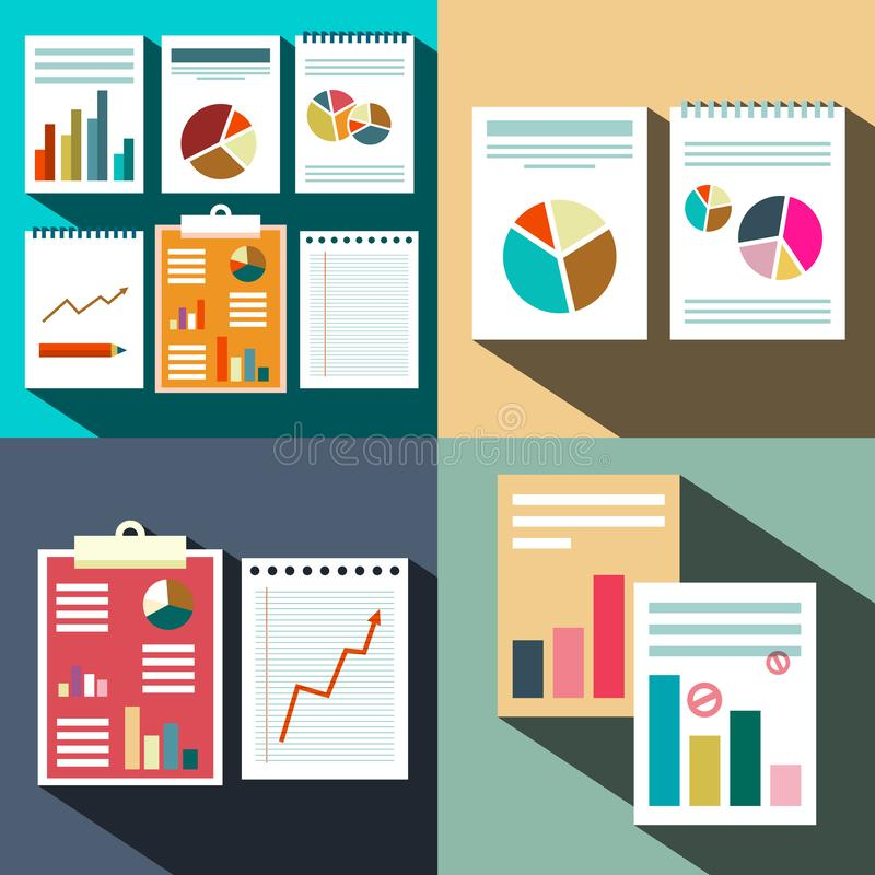 Flat Business Paper Data Report Background. royalty free illustration