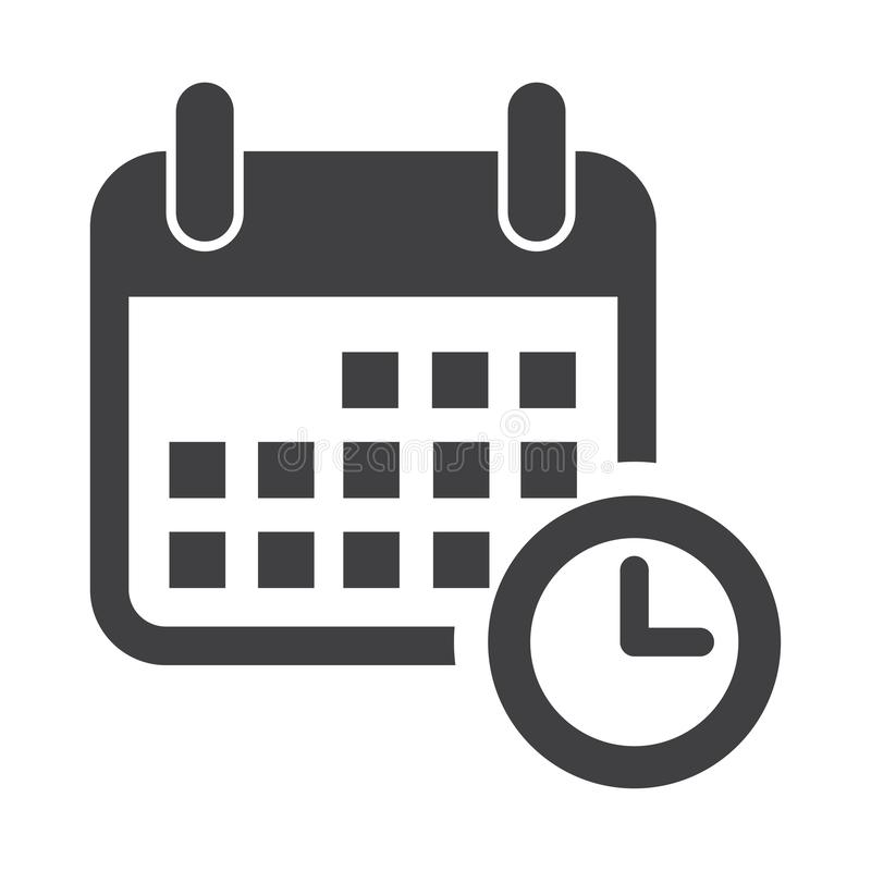 Flat calendar Icon. Calendar on the wall. Vector illustration.Calendar icon in flat style. Calendar symbol for your web site desig royalty free illustration