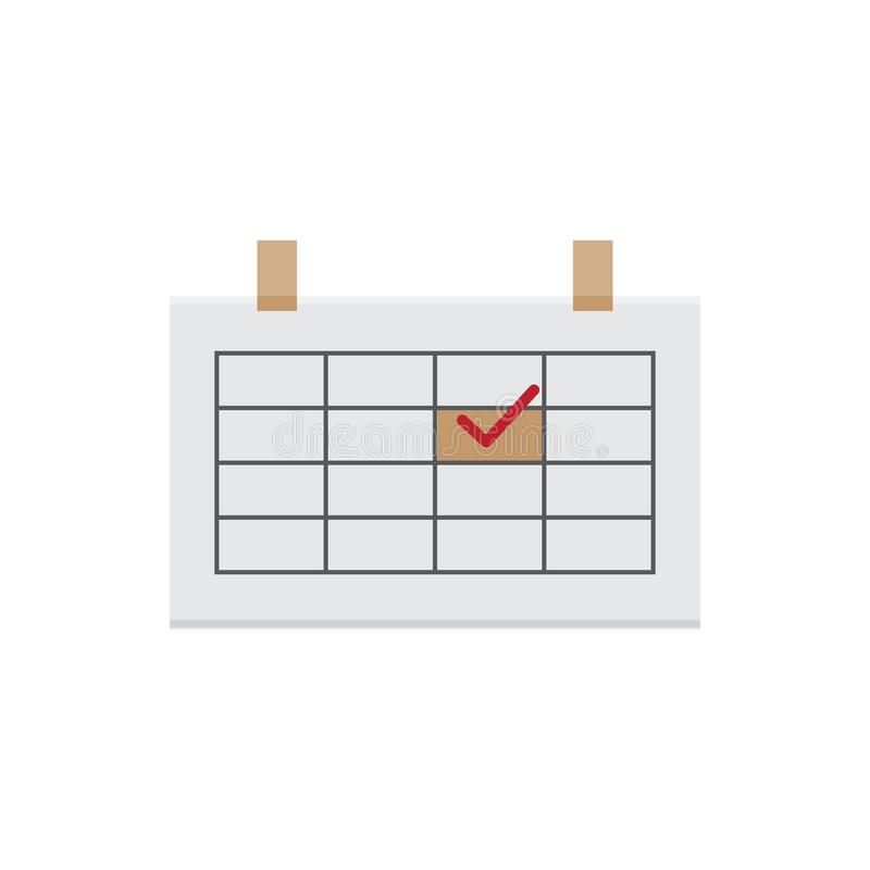 Flat calendar icon Isolated on white background for graphic design, logo, web site, social media, mobile app, illustration.  vector illustration