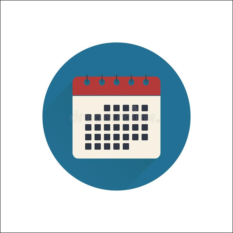 Flat calendar icon stock images