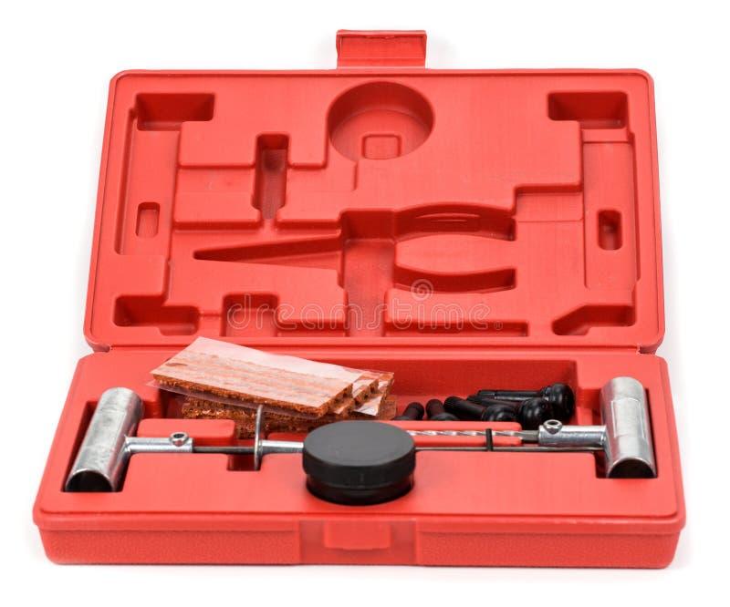 Flat car tire repair kit, Tire plug repair kit for tubeless tire. S royalty free stock photography