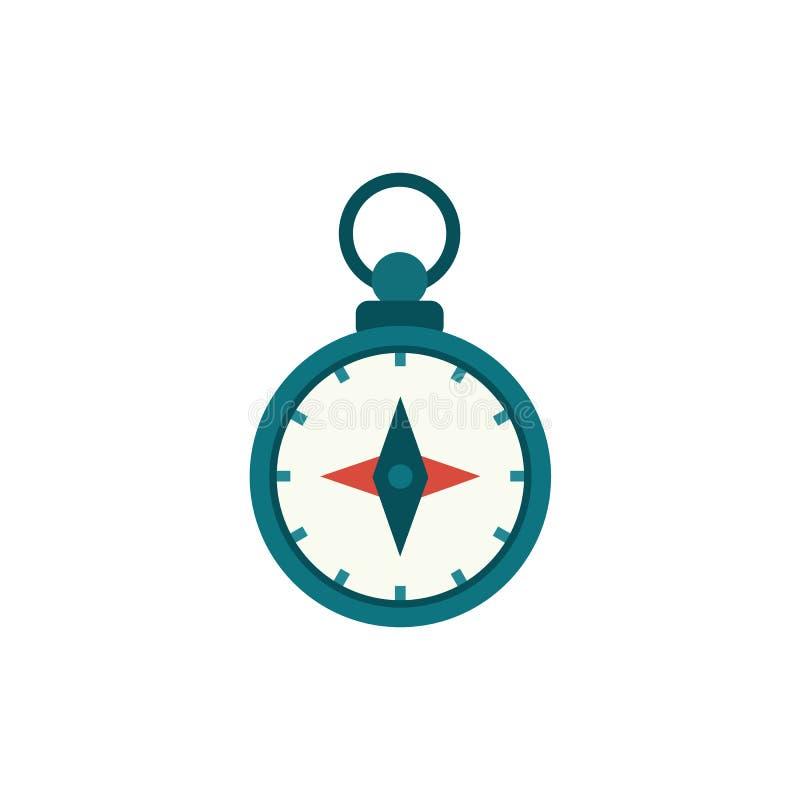 Flat cartoon compass, nautical equipment royalty free illustration