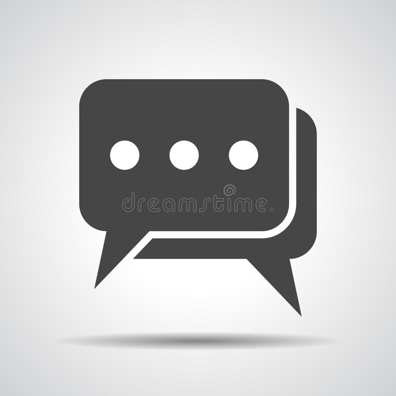 Free Flat Chat Icon Royalty Free Stock Photography - 51003517