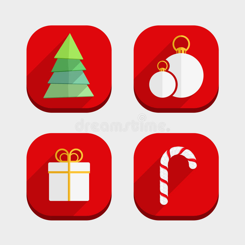 Download Flat Christmas Icons stock vector. Illustration of confection - 33568058