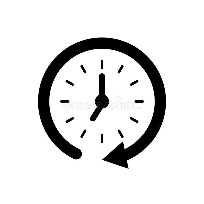 Flat clock vector icon for graphic design, logo, web site, social media, mobile app, illustration royalty free illustration