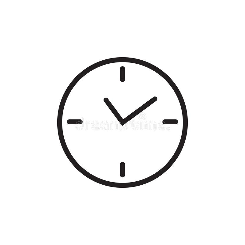 flat clock vector icon isolated on white background for graphic rh dreamstime com clock vector free download clock vector free download ai