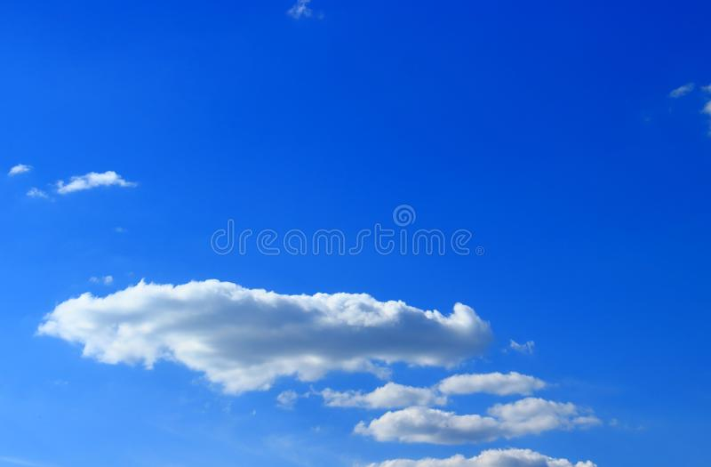 Flat clouds on sky royalty free stock photo