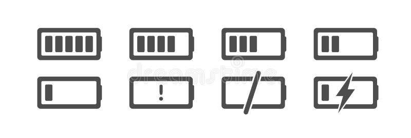 UI cherge icons stock illustration