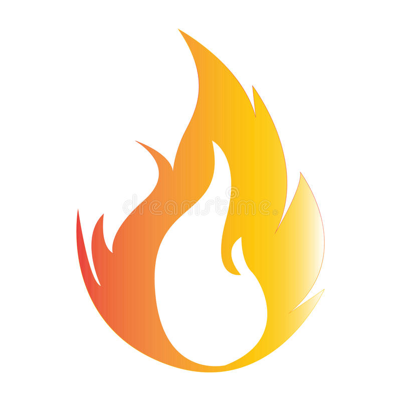 Flat color fire icon. Simple flat color fire icon vector royalty free illustration