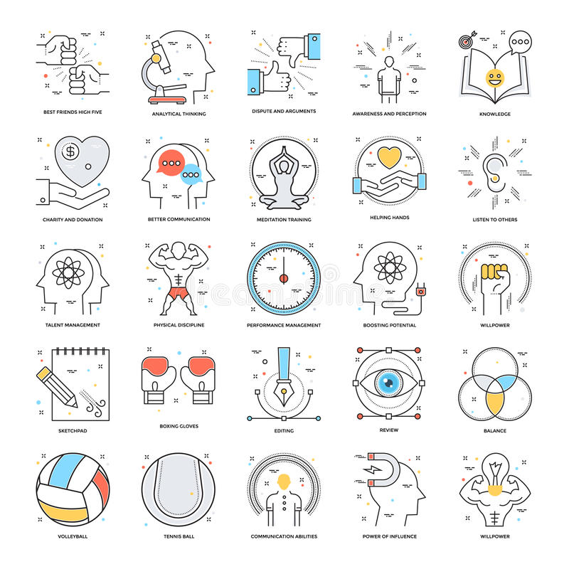 Flat Color Line Icons 19 royalty free illustration