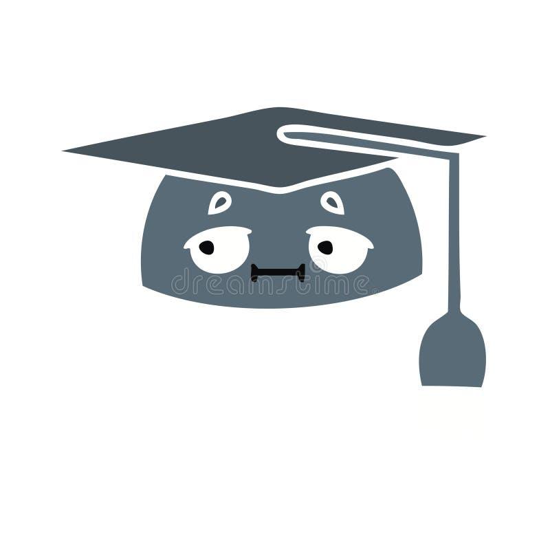 Cartoon Graduation Cap University Study Cute Illustration