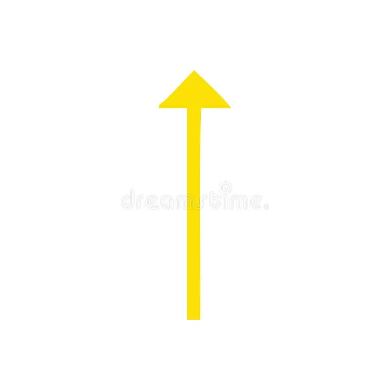 flat color retro cartoon long arrow symbol vector illustration