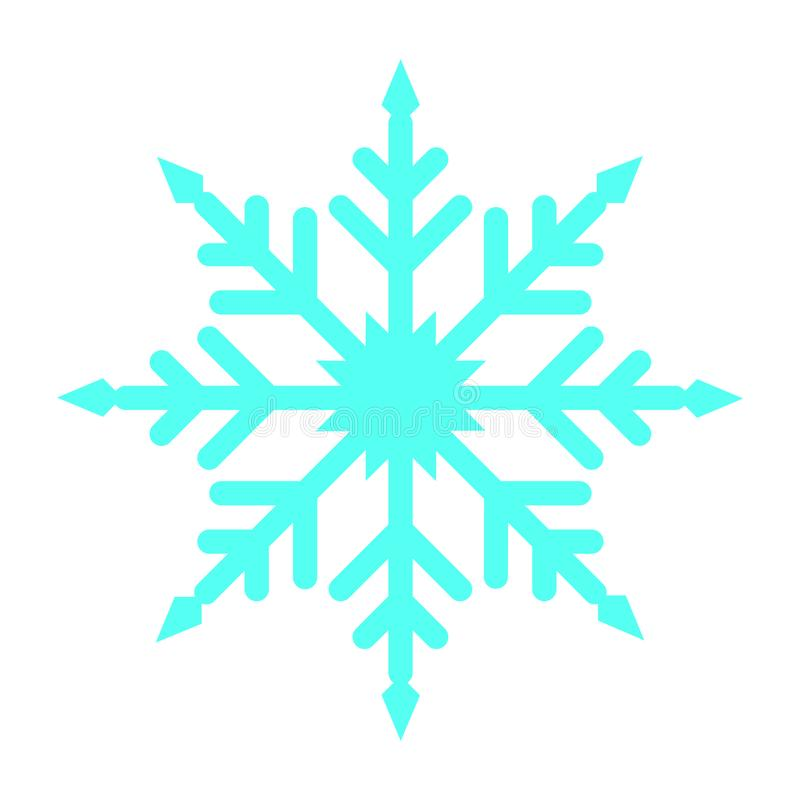 Flat color snow flakes icon. Simple flat color snow flakes icon vector royalty free illustration