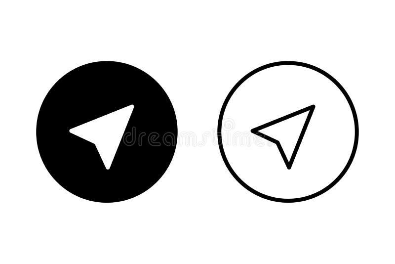 Flat compass for web design. Location icon vector. Longitude navigation sign symbol. Arrow - navigation icon vector. Compass icon. Sign symbol. EPS 10 royalty free illustration
