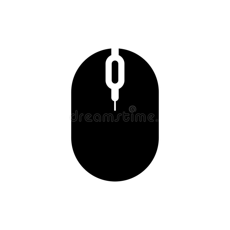 Flat computer mouse icon Isolated on white background for graphic design, logo, web site, social media, mobile app, illustr. Ation royalty free illustration