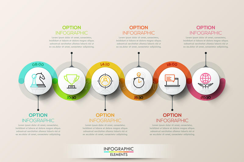 Flat Connection Timeline Infographic Design Template With ...