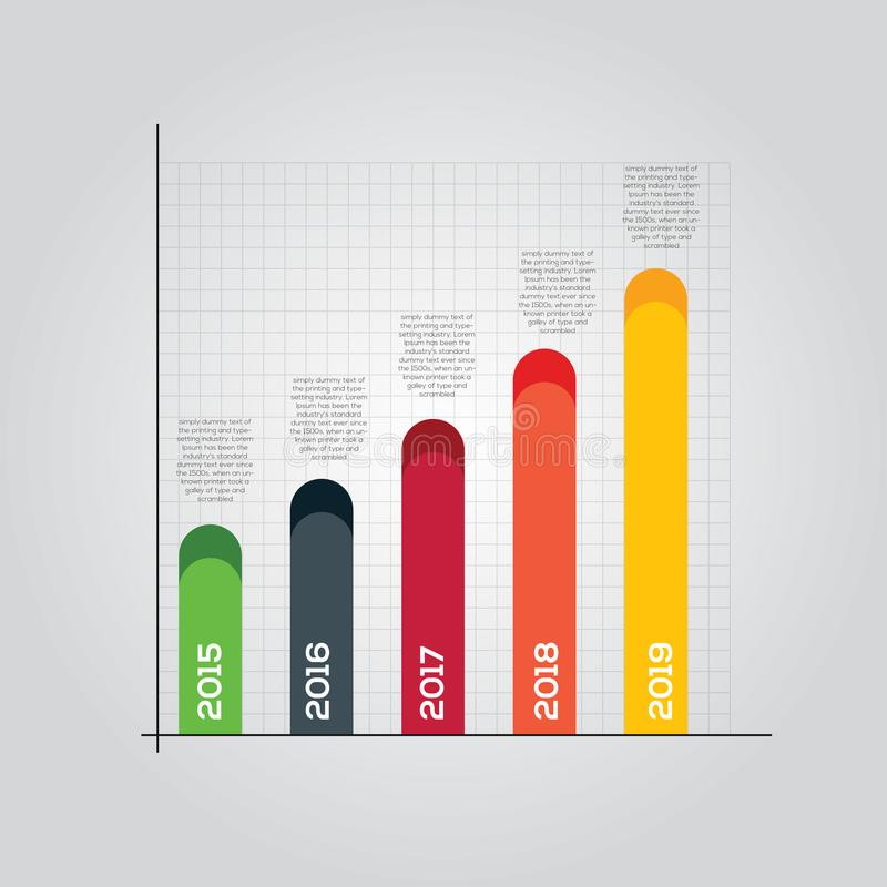Flat Continue Graph stock images
