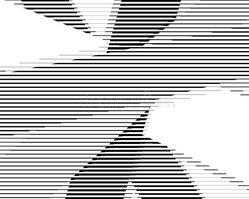 Halftone bitmap lines retro background Black and White. Print stock illustration