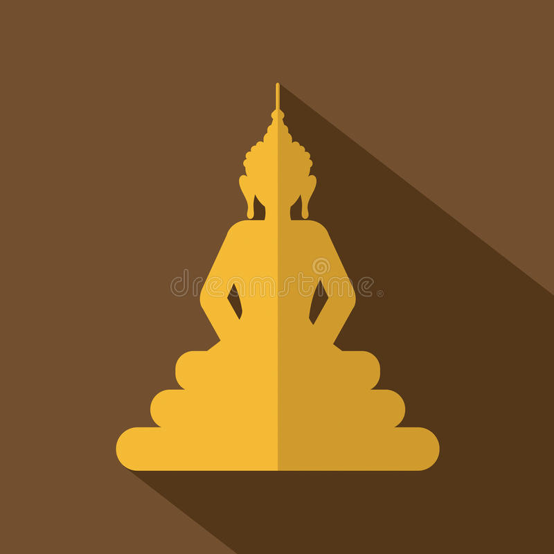 Flat Design Buddha Icon vector illustration
