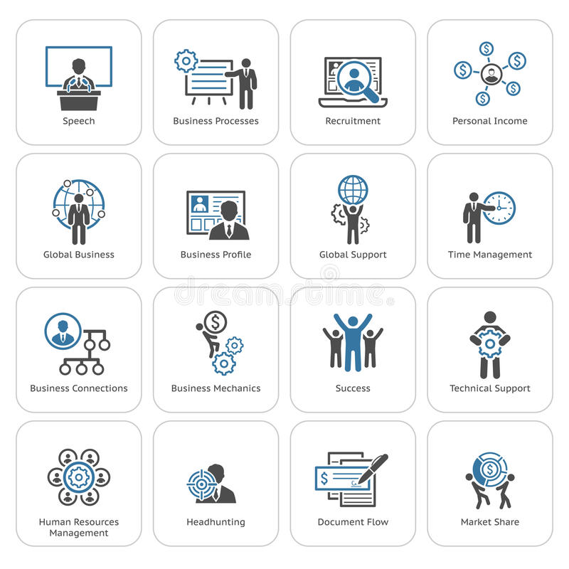 Flat Design Business Icons Set. vector illustration
