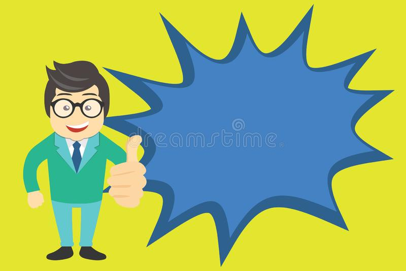 Thumbs Up Hand 3D Like Icon Stock Illustration