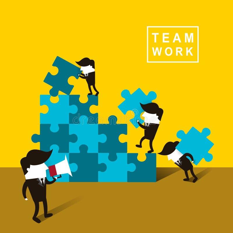 Flat design of businessmen team work vector illustration