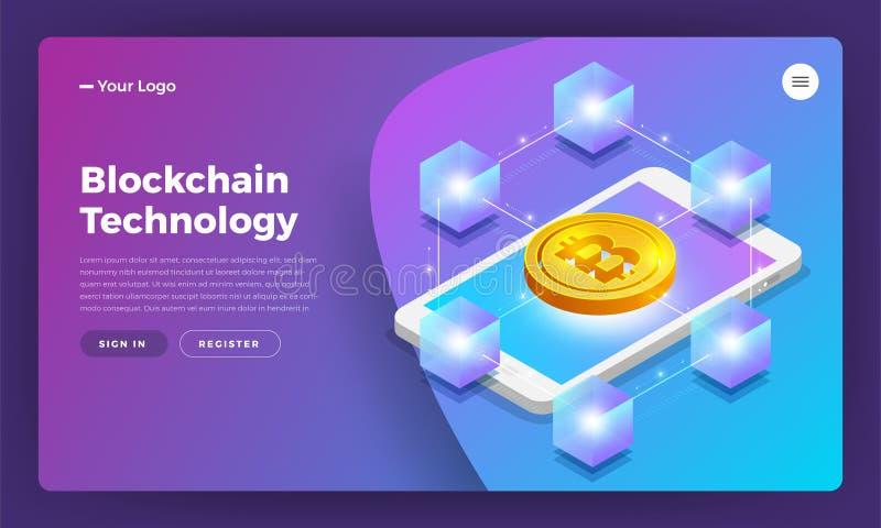 Blockchain technology stock illustration