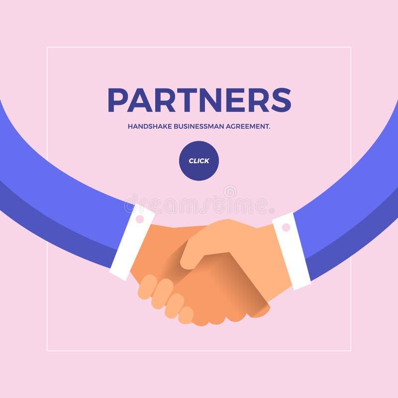 Flat design concept check hands to partner business. Vector illustrate. vector illustration