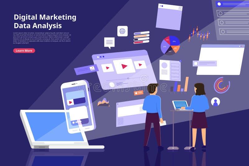Digital marketing Analysis stock illustration